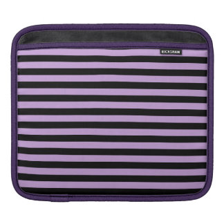 Thin Stripes - Black and Wisteria Sleeves For iPads