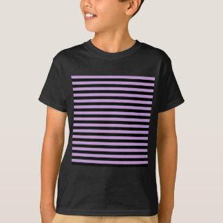 Thin Stripes - Black and Wisteria T-Shirt