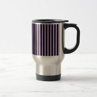 Thin Stripes - Black and Wisteria Travel Mug