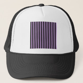 Thin Stripes - Black and Wisteria Trucker Hat
