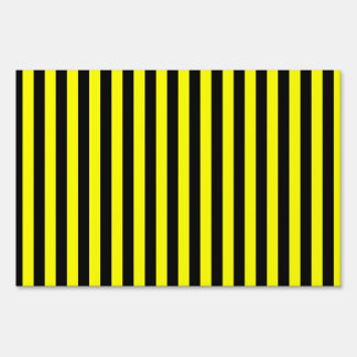 Thin Stripes - Black and Yellow Sign