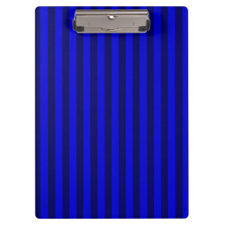 Thin Stripes - Blue and Dark Blue Clipboard