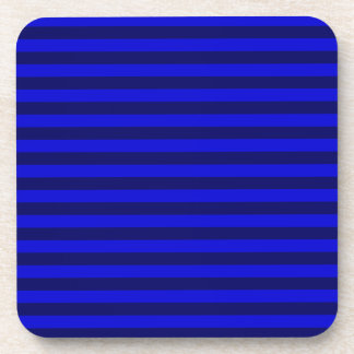 Thin Stripes - Blue and Dark Blue Drink Coasters