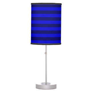 Thin Stripes - Blue and Dark Blue Table Lamp