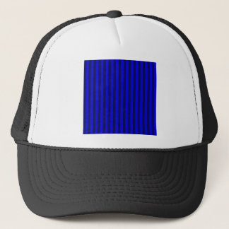 Thin Stripes - Blue and Dark Blue Trucker Hat