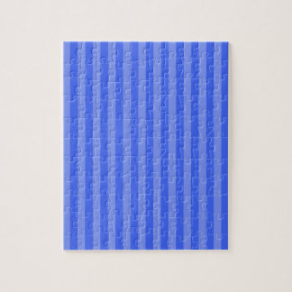 Thin Stripes - Blue and Light Blue Jigsaw Puzzle