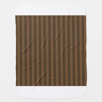 Thin Stripes - Brown and Dark Brown Baby Blanket