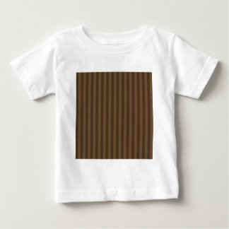 Thin Stripes - Brown and Dark Brown Baby T-Shirt