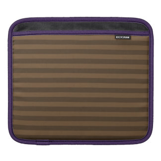 Thin Stripes - Brown and Dark Brown iPad Sleeve
