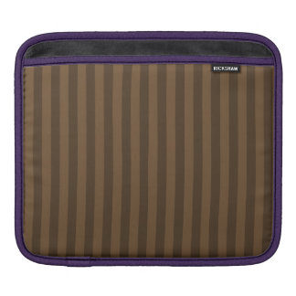 Thin Stripes - Brown and Dark Brown iPad Sleeve