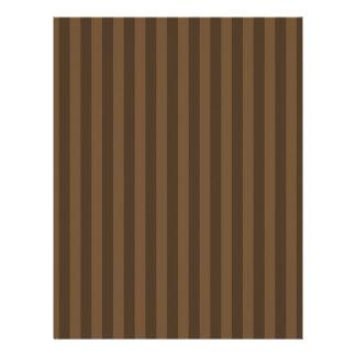 Thin Stripes - Brown and Dark Brown Letterhead