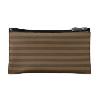 Thin Stripes - Brown and Dark Brown Makeup Bag
