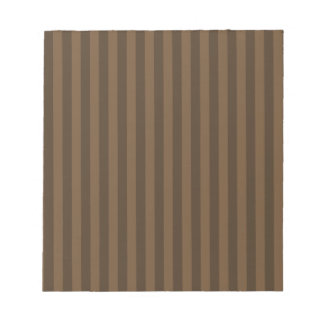 Thin Stripes - Brown and Dark Brown Notepad
