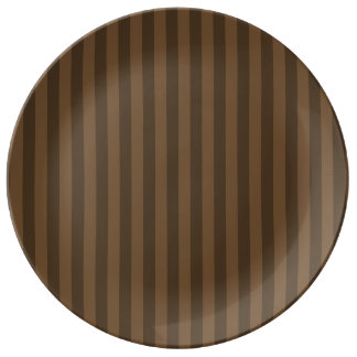 Thin Stripes - Brown and Dark Brown Plate