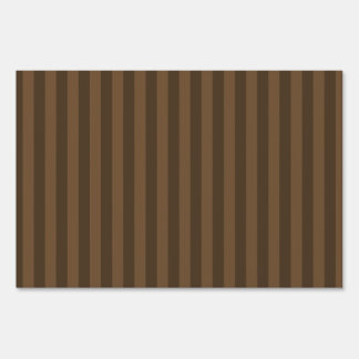 Thin Stripes - Brown and Dark Brown Sign