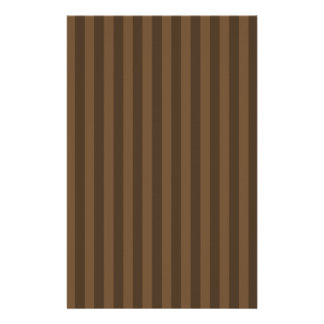 Thin Stripes - Brown and Dark Brown Stationery