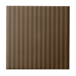 Thin Stripes - Brown and Dark Brown Tile