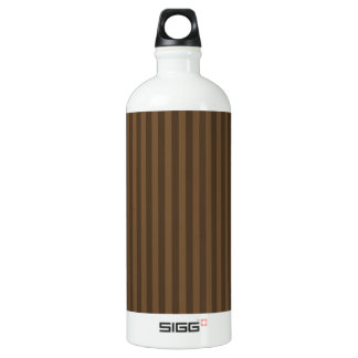 Thin Stripes - Brown and Dark Brown Water Bottle