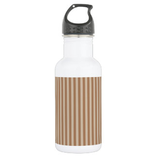 Thin Stripes - Brown and Light Brown 532 Ml Water Bottle