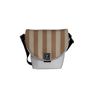 Thin Stripes - Brown and Light Brown Commuter Bag