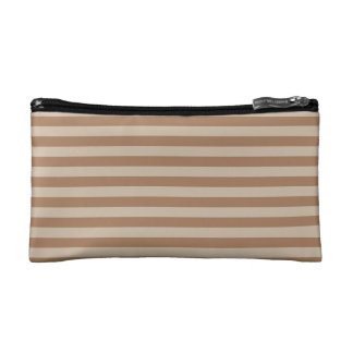 Thin Stripes - Brown and Light Brown Cosmetic Bags