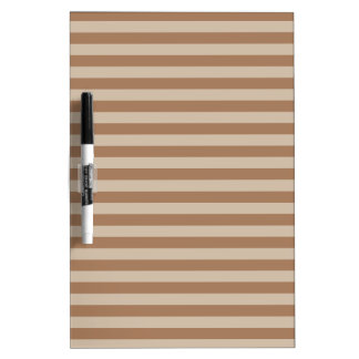 Thin Stripes - Brown and Light Brown Dry-Erase Whiteboards