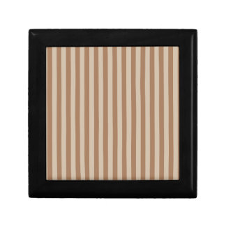 Thin Stripes - Brown and Light Brown Gift Box