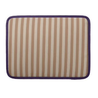 Thin Stripes - Brown and Light Brown MacBook Pro Sleeve