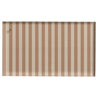 Thin Stripes - Brown and Light Brown Place Card Holder