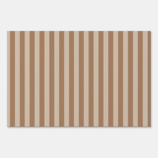 Thin Stripes - Brown and Light Brown Sign