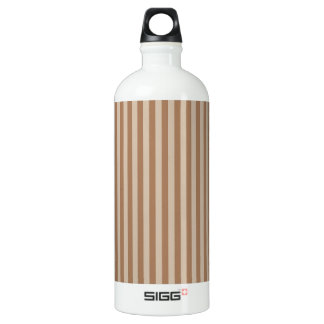 Thin Stripes - Brown and Light Brown Water Bottle