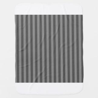 Thin Stripes - Gray and Dark Gray Baby Blanket