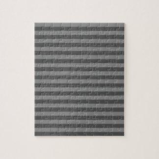 Thin Stripes - Gray and Dark Gray Jigsaw Puzzle