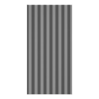 Thin Stripes - Gray and Dark Gray Personalized Photo Card