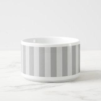 Thin Stripes - Gray and Light Gray Bowl