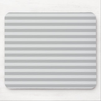 Thin Stripes - Gray and Light Gray Mouse Pad