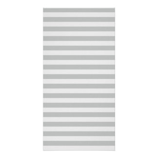 Thin Stripes - Gray and Light Gray Photo Card Template