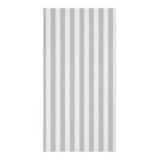 Thin Stripes - Gray and Light Gray Photo Greeting Card