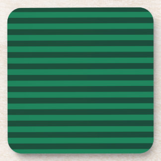 Thin Stripes - Green and Dark Green Coaster