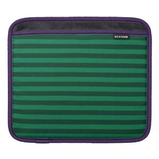 Thin Stripes - Green and Dark Green iPad Sleeve