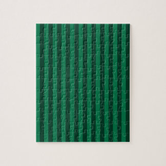 Thin Stripes - Green and Dark Green Jigsaw Puzzle