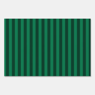 Thin Stripes - Green and Dark Green Sign