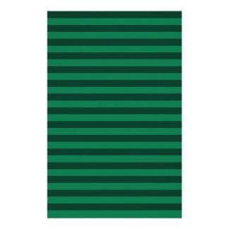 Thin Stripes - Green and Dark Green Stationery