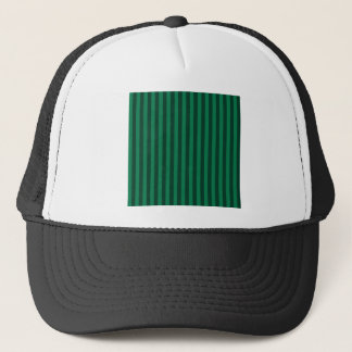 Thin Stripes - Green and Dark Green Trucker Hat