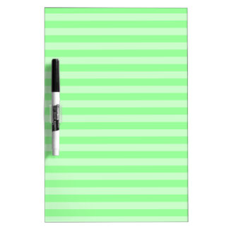 Thin Stripes - Green and Light Green Dry Erase White Board