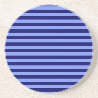 Thin Stripes - Light Blue and Dark Blue Coasters