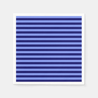 Thin Stripes - Light Blue and Dark Blue Disposable Napkins