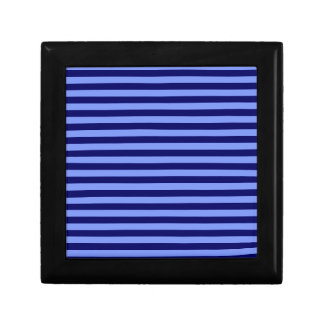 Thin Stripes - Light Blue and Dark Blue Keepsake Box