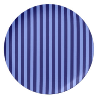 Thin Stripes - Light Blue and Dark Blue Party Plate