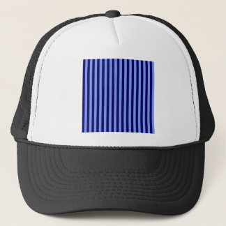 Thin Stripes - Light Blue and Dark Blue Trucker Hat